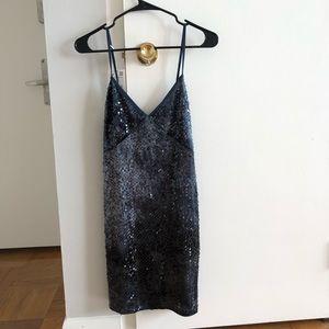 NEW ZARA tie dye sequin dress